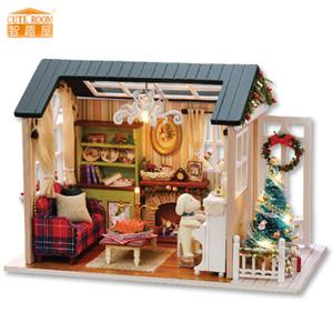 Mobilya DIY bebek evi Wodden Miniatura Doll Evleri Mobilya Seti Kutusu Bulmaca Dollhouse Oyuncak İçin Çocuk hediye z009 birleştirin