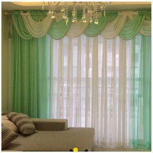 curtains for living room modern sheer kitchen cortinas  tulle drape panel and waterfall valance hilton window voile