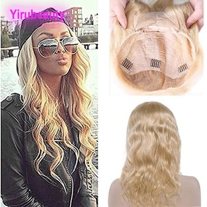 Brazilian Virgin Hair 613 Blonde Human Hair 13X4 Lace Front Wig 8-28inch Body Wave 613# Color Lace Front Wig With Baby Hair Light Lace