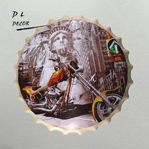 미국 ROUTE 66 MOTOR 맥주 병 뚜껑 집 장식 철 그림 PLAQUE bar cafe wall decor