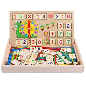 صندوق خشبي متعدد الوظائف الرقمية مونتيسوري التعلم التعليمية لعبة الرياضيات لعب للأطفال طفل روضة شحن مجاني