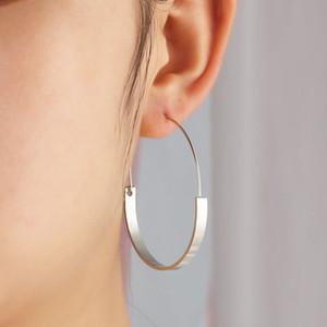 Simple Style Creolen Schmuck Gold Silber Farbe Legierung Ohrringe Frauen Huggie Errings Valentinstag Geschenk