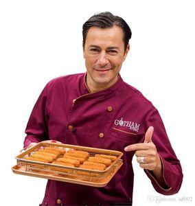 Crispy Tray Crisper para hornear pan antiadherente Horno Air Fryer Mesh Basket Kitchen Tools Durable alta calidad 29 dp dd
