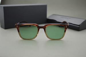 HOT! Personalizado tingido lentes Oliver Peoples ov5031 NDG-1-P óculos homens e mulheres óculos de sol quadrados vintage com embalagem original