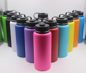13colors 18oz 32oz 40oz bottiglia d'acqua vuoto isolato bottiglia 304 bottiglia d'acqua in acciaio inox bocca larga grande capacità di viaggio tazze con coperchi