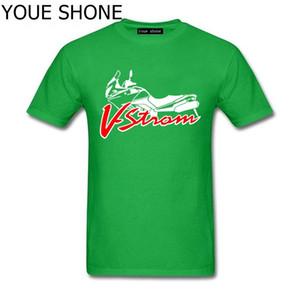Fashion Men's T Shirt Suzuki V-strom DL 650 Motorsport Team Logo T-shirt Men Cotton T-shirts High Quality Short Sleeve tee pullover T