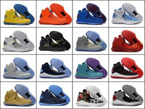 2018 Yeni Yeni 32 Çin Yeni Yıl Erkekler Basketbol Ayakkabıları yüksek Kaliteli Haber XXXII Ucuz 32 s Hornets Erkek Eğitmenler Spor Sneakers Boyutu 40-46
