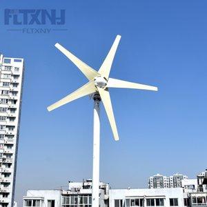 chegada nova 400w 500w 600w 3/5 lâminas vento gerador de energia CA 12v 24v 48v turbina eólica trifásico com controlador de vento MPPT