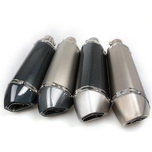 Para 35-51 MM Universal Motorcycle escape tubo de mufla modificado para a maioria das motocicletas CB400 CBR600 YZF YZR R1 E6 TTR GSXR750