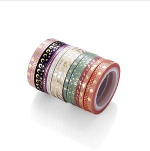 AAGU 1 ADET 3mm * 5 m Dekoratif Sıska Folyo Washi Bant Kırtasiye Nokta Yıldız Yapışkan Bant Washi Maskeleme bandı 2016
