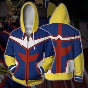 Disfraces de anime cosplay sudaderas My Hero Academy Impresión 3D Sudaderas con cremallera para las mujeres de manga larga con capucha bolsillo Jerseys Tops