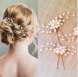 1 adet Zarif Gelin Düğün Kristal Inci Çiçek Saç Pins Charm El Yapımı Nedime Gelin Peçe Saç Aksesuarları Ücretsiz Nakliye