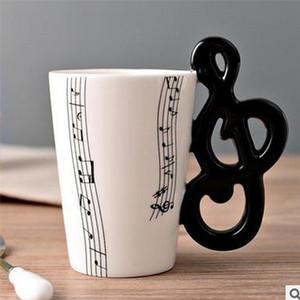 Caneca Lemon New Design Guitarra Ceramic Cup personalidades da música Juice Nota Leite Café Tea Cup Home Office Copos Unique Gift