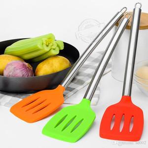Silice Gel Truner Food Grade matériaux en acier inoxydable poignée cuisine ustensiles de cuisine pièces anti-échaudage résistant à la chaleur antiadhésive 4 8mra dd