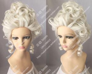 Rainha da moda Aristocracia Peruca Marie Antoinette Cosplay Party Peruca HairFree grátis New High Quality Moda peruca