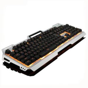 Gaming Tastatur USB Wired Backlights Metall Ständer Gamer Suspension Tasten Beleuchtung Tastatur mit Handy-Halter Optische Tastaturen für Gaming