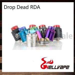 Hellvape Drop Dead RDA 24 мм Диаметр Проверенная сборочная колода с интеллектуальной высокой стороной вниз наклонный воздушный поток 100% оригинал