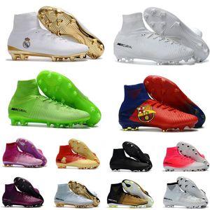 Высокое Качество CR7 Футбольные Бутсы Assassin Одиннадцатого Поколения FG AG Mercurial Superfly V Мужчины Женщины Дети Ronaldo 11 Футбол Спортивные Кроссовки Обувь