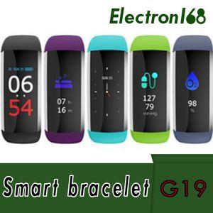 60X G19 Smart Armband Farbe LED Herzfrequenz Smart Band Blutsauerstoffdruck Schlaf Monitor Fitness Tracker Smart Bracele