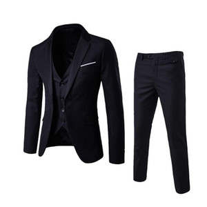 Mens Sets Clothes Slim Fit Wedding Garment Groomsmen Clothes Brothers College Students Handsome Small Suits Banquet Meeting