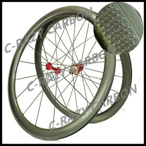 الشحن مجانا!! الفرامل سطح الدمل عجلات الكربون 45MM الفاصلة الطريق الدراجة الكربون عجلة 700C الطريق الدراجة