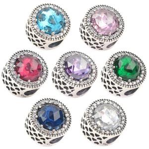 5 pz 925 Sterling Silver Fascinating Teal Perle di Vetro di Murano Misura Per Pandora Braccialetto Europeo Charmse Collane c24
