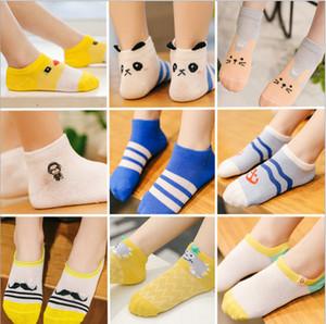 5 Paare / Los INS Knöchelsocken Sommerfuchs-Karikaturentwurf Nette unsichtbare Socken Jungen Mädchen Strümpfe Strumpfwaren Kurze Socken gestreifte Boots-Socke