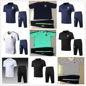 2018 월드컵 전국 반팔 트레이닝 복 Survestement 축구 셔츠 Tracksuit Pants Kit Chandal Uniform