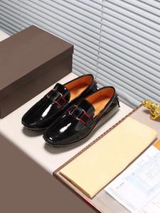 Nouvelle arrivée Louise Hommes Mocassins Habillées Marche Low Cut Patent Office Genuine Leather Casual Taille Chaussures disque 38-44
