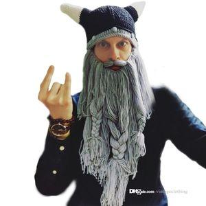 هالوين تأثيري حلي حزب قبعة أسود رمادي الأزياء حزب مهرجان الرجال القراصنة مضحك محبوك قبعات قبعة
