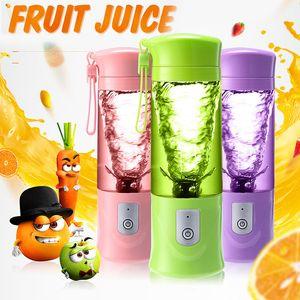 Yeni Tasarım 420 ml Elektrik Smoothie Blender Meyve Sıkacağı Makinesi El Suyu Fincan Usb Powered Meyve Sebze Rayba Istihbarat