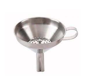 Embudo funcional de miel de aceite de cocina de acero inoxidable con filtro / filtro desmontable para perfumar agua líquida