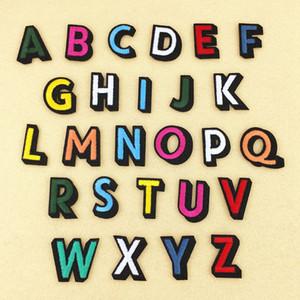 Alphabet Lettre Correctifs Fer Brodé Sur Patch pour Vêtements Badges Coller Pour Sac Pantalon À Coudre 26pcs Lettres Alphabet DIY Patchs Embroid