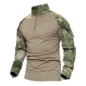 Nouvel été Automne Homme Multicam T-Shirts Armée Camouflage Combat Tactique T-shirt Militaire Hommes T-Shirt À Manches Longues Hunt T -Shirts