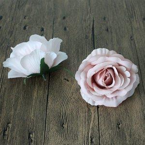 Flores decorativas Artificial Rose Flower Head Handmade Decoração de casa DIY Fontes do partido de evento para decoração de casamento Flores
