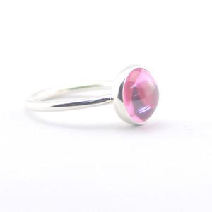 Compatível com anel de jóias Pandora prata Poetic Gota Rosa CZ anéis 100% 925 sterling silver jewelry atacado DIY Para As Mulheres