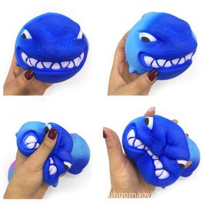 10 Stücke New Rainbow Fierce Shark Squishy Langsam Steigenden Jumbo Weiche Squeeze Kawaii Squishies Spielzeug Charme Kuchen Kind Geschenk Hohe Qualität