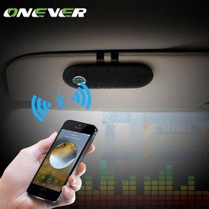 도매 무선 스피커폰 Bluetooth 핸 즈 프리 자동차 키트 MP3 음악 플레이어 스마트 폰 지원 듀얼 폰 연결