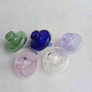 Цветные стеклянные бутылки UFO CAP CAP CAP CAP DOME 35 мм OD 7 Цветные трубы Курящие аксессуары для кварцевых Бэнгсер Водяные бонги Характы