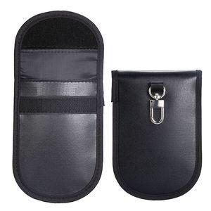 Key Fob Protector dispositivo Pu Couro Anti-radiação Anti-espionagem GPS Rfid sinal de bloqueio saco Função Pouch Car Key Remotes Handset