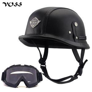 VOSS Motorcycle Helmet Motorcross Camouflage Vintage capacetes para Scooter Bater Casco Windproof Abrir rosto Para Harley equitação