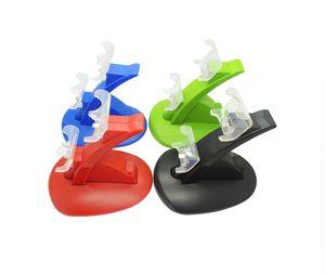 الحرة الشحن المزدوج USB شحن محطة الإرساء شاحن قفص الاتهام حامل لسوني بلاي ستيشن 4 PS4 / PS4 برو / PS4 سليم المراقب المالي مع كابل