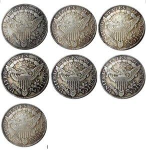 US 1798 -1804 7pcs drapierte Büste Dollar-heraldische Eagle-Silber überzogene kopieren Münzen Metallhandwerk Gesenke Herstellung Fabrik Preis