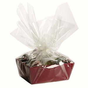 70 pcs emballage papier cadeau fleur emballage cello film transparent cellophane papier transparent sacs Bopp film film OPP Noël livraison gratuite