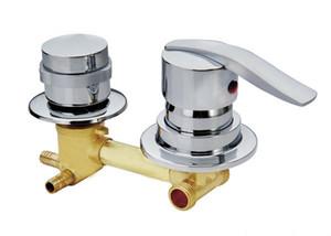 사용자 정의 2/3/4/5 방식 수관 황동 샤워 탭, 2 가지 스타일 나사 또는 삽관동 구리 샤워 실실 혼합 밸브