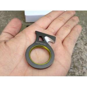 Al aire libre Solo Dedo Sharp Cuchillo Cuchillo Cortador Cuerda de Corte Cuchillo Gancho EDC Gadget Coche Rescate de Emergencia Herramientas Camping