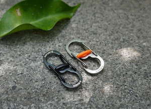 Shape Plastic Safety Buckle Stainless Steel Carabiner Key Chain Hook Clip Outdoor Camping Hiking Snap Outdoor Equipment