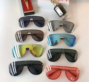 UV koruması Pearl kaplanması kadın erkek güneş gözlüğü kadın marka tasarımcısı güneş gözlüğü vs Yeni tasarımcı güneş gözlüğü moda güneş gözlüğü perçinler