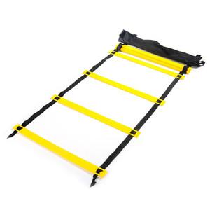 Nueva llegada Durable 6 peldaños 3M Agility Ladder para fútbol y fútbol Herramienta de entrenamiento de velocidad Fitness culturismo para deportes al aire libre
