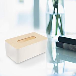 Moderne Bambus Tissue Box Serviette Papier Cover Halter Runde Rechteck Tissue Case Home Küche Zimmer